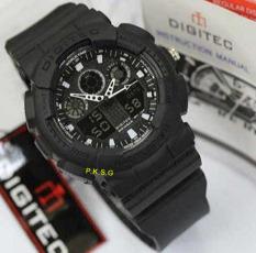 Toko Digitec Dual Time Jam Tangan Sport Pria Rubber Strap Dg 2217 Black White Yang Bisa Kredit