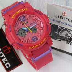 Digitec Jam Tangan Casual Women Sport Dual Time - Pink