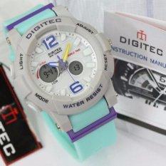 Diskon Produk Digitec Jam Tangan Casual Women Sport Dual Time Putih Tali Hijau