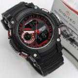 Promo Digitec Jam Tangan Fashion Anti Air 100M Dual Time Dg3042T Black Red