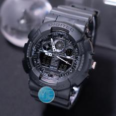 Digitec Original Jam Tangan Pria Army DG 2011 T Dual Time Anti Air - Full Hitam
