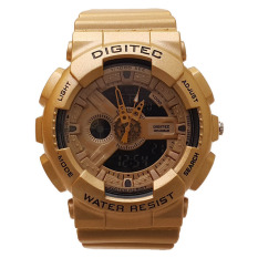 Jual Digitec Jam Tangan Pria Dg 2081 Dual Time Rubber Strap Gold Ori