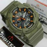 Jual Digitec Jam Tangan Pria Loreng Army Dual Time Dg 7702 T Original Anti Air Tentara Prajurit Hitam Import