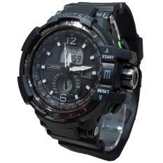 Spesifikasi Digitec Jam Tangan Pria Original Dual Time Multi Fungsi Bonus Batrai Dg2065T Black Baru