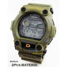 Digitec Jam Tangan Pria Original Sporty - Bonus Baterai - D S 0085R G - Green