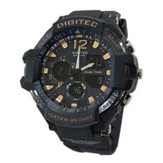 Spesifikasi Digitec Jam Tangan Pria Rubber Hitam List Gold Dg2094T Lengkap Dengan Harga