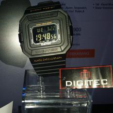 Digitec Jam Tangan Pria Water Resistant Strap Rubber PROTECTION D024G - BLACK