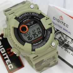 Ulasan Digitec Jam Tangan Sport Digital 8250 Rubber Army Fishman Series Hijau Muda