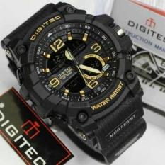 Digitec Jam Tangan Sport Dual Time DG2102T - Black Gold