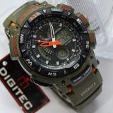 Digitec Jam Tangan Sport Energia Dual Time Alarm Stopwacth Hari Tanggal Hijau Army Original