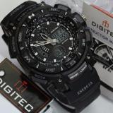 Digitec Jam Tangan Sport Energia Dual Time Alarm Stopwacth Hari Tanggal Hitam Promo Beli 1 Gratis 1