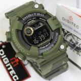 Spesifikasi Digitec Jam Tanganpria Original Sporty Water Resistant Digital Rubber Strap 8250 Green Army Paling Bagus