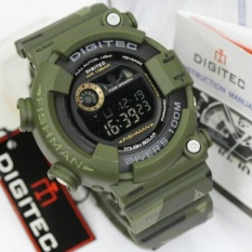 Harga Digitec Jam Tanganpria Original Sporty Water Resistant Digital Rubber Strap 8250 Green Army Paling Murah