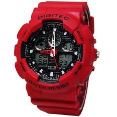 Harga Digitec Limited Edition Dg 5180 Jam Tangan Sport Merah Strap Rubber Dualtime Fullset Murah