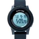Jual Digitec Men S Dg 3037 Hitam Digital Strap Rubber Baru