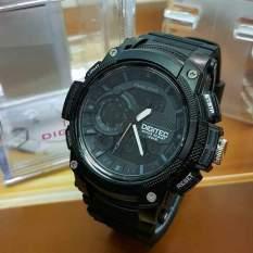 Digitec Men's Jam Tangan Pria - DG 2057 Hitam - Strap Karet - Dual Time