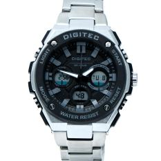 Jual Digitec Men S Jam Tangan Pria Dg 3036 M Jarum Abu Dualtime Stainless Steel Satu Set