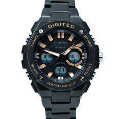 Spesifikasi Digitec Men S Jam Tangan Pria Dg 3036 Mb Jarum Coklat Dualtime Stainless Steel Baru