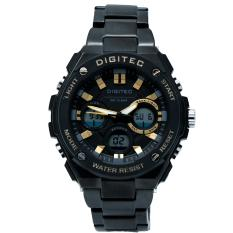 Harga Digitec Men S Jam Tangan Pria Dg 3036 Mb Jarum Kuning Dualtime Stainless Steel New