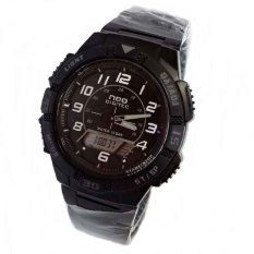 Digitec Neo Dual Time - Jam Tangan Pria - Stainless Steel - NDG 1003 Black