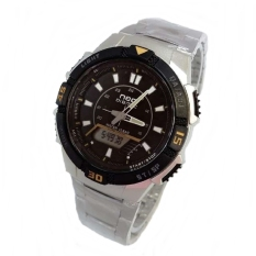 Digitec Neo Dual Time - Jam Tangan Sporty Pria - Stainless Steel - NDG 1003 SBY
