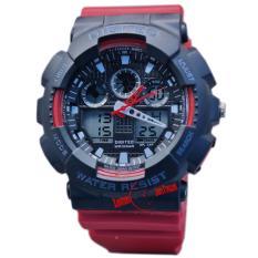 Beli Digitec Original Dg2011M Jam Tangan Pria Dual Time Strap Karet Merah Hitam Kredit