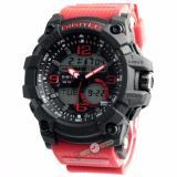 Jual Digitec Original Dg2102M Jam Tangan Pria Dual Time Strap Karet Merah Hitam Digitec Branded
