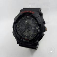 Jual Beli Online Digitec Original Jam Tangan Pria Digital Rubber Strap Black Terbaru