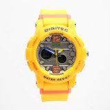 Jual Digitec Women S Jam Tangan Wanita Dg 2073 Kuning Karet Dual Time Original
