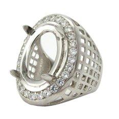 Diraff Ring Emban Cincin Perak Hongkong Kadar 925 - 150506