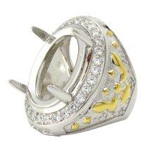 Diraff Ring Emban Cincin Perak Hongkong Kadar 925 - 150507 kuning
