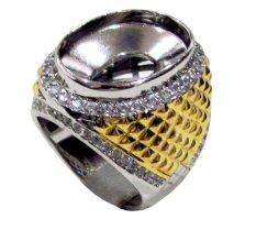 Diraff Ring Emban Cincin Perak Hongkong Kadar 925 150631 - Silver