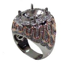 Diraff Ring Emban Cincin Perak Hongkong Kadar 925 150632