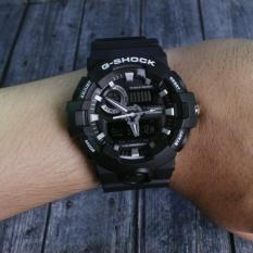 DISKON AKHIR TAHUN!   G-Shock Casio GA700 Black Hitam . Jam Tangan Pria Dual Time Digital Analog
