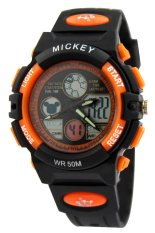 Spek Disney Ms5516 O Mickey Sport Jam Tangan Anak Orange Pvc Strap Indonesia