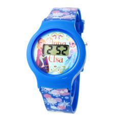 Jual Disney Princess Frozen Jam Tangan Anak Digital Biru Muda Pvc Strap Ffsq5482 Antik