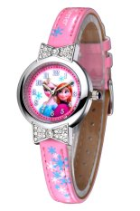 Situs Review Disney Princess Frozen Jam Tangan Anak Pink Leather Strap Fz5455 P