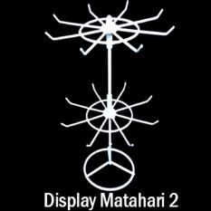 Display Perhiasan Rak Putar 2 Tingkat - Perlengkapan Toko Butik Unik Murah Alat Pajang Display Aksesoris Fashion Gelang Kalung Anting Gantungan Kunci Hp