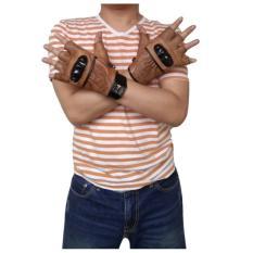 dm Sarung Tangan Batok Half Finger Kulit Asli Limited Edition (Light Brown)