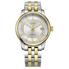 Dmscs MEGIR Model Ledakan Yang Menjual Pria Bisnis Kasual Belt Watch Watches Tahan Air Jam Tangan Mekanis (GoldSilver)
