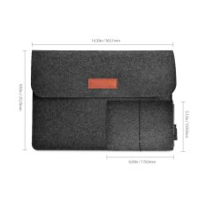Dodocool 13.3-inch Felt Sleeve Cover Jinjing Case Protective Bag 4 Kompartemen dengan Mouse Pouch untuk Apple 13