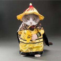 Anjing Kucing Halloween Kostum Kaisar Cosplay Lucu PET Dress Up Pesta Baju XL-Internasional
