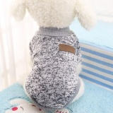 Jual Beli Online Dog Classic Sweater Pet Puppy Pakaian Hangat Musim Dingin Lembut Cat Jaket Mantel Hoodies Untuk Chihuahua Yorkie Anjing Xs Xxl Warna Putih Keabu Abuan Ukuran Xl Intl