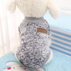 Ulasan Mengenai Dog Classic Sweater Pet Puppy Pakaian Hangat Musim Dingin Lembut Cat Jaket Mantel Hoodies Untuk Chihuahua Yorkie Anjing Xs Xxl Warna Putih Keabu Abuan Ukuran Xl Intl