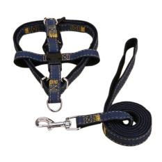 Diskon Anjing Kalung Adjustable Denim Pet Harness Set Timah Leash Pelatihan Berjalan Sabuk For Kecil Menengah Puppy Anjing Kucing Hitam M 1 5 120 Cm Branded