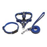 Cuci Gudang Anjing Kalung Bisa Disesuaikan Denim Pet Harness Set Timah Leash Pelatihan Berjalan Sabuk For Kecil Menengah Puppy Anjing Kucing Biru L 2 120 Cm Intl