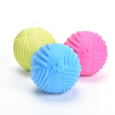 Dog Pet Puppy Fetch Chew Toy Durable Rubber Ball Fits Launcher Training Exercise Multicolor 2.56inch - intl