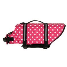 Dog Saver Life Jacket Vest PET Preserver Aquatic Safety Wave (Merah Muda) (XL)-Intl