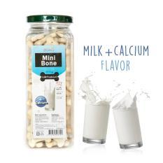 Harga Dog Snack Mini Bone Milk Calcium Flavour Yang Murah