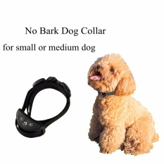 Toko Anjing Berhenti Menggonggong Kerah Anjing Tidak Barking Anti Bark Control Collar Pet Training Perangkat Intl Oem Online